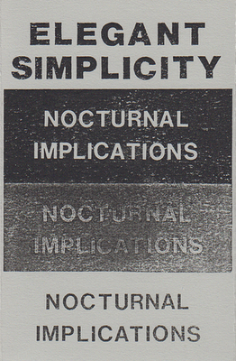 Nocturnal  Implications - Original Cassette Release