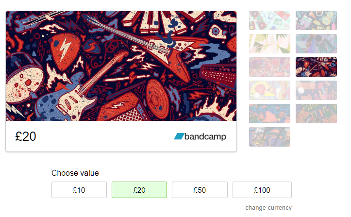 4abb9855c9a Well, those nice chaps at Bandcamp have gone and launched Bandcamp Gift  Cards! So, if you are stuck for a last minute gift for someone, it couldn t  be ...